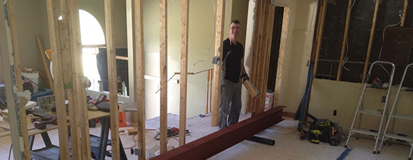 daryl cober working on a home improvement project